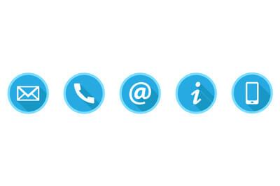 Buttons Kontaktseite