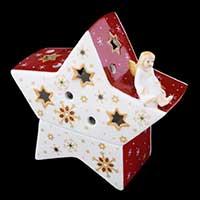 Villeroy & Boch Christmas Light Windlicht Engel auf Stern