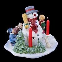 Villeroy & Boch Christmas Toys Kinder bauen Schneemann
