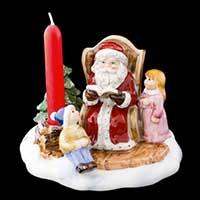 Villeroy & Boch Fairytale Park Szene Santa mit Buch
