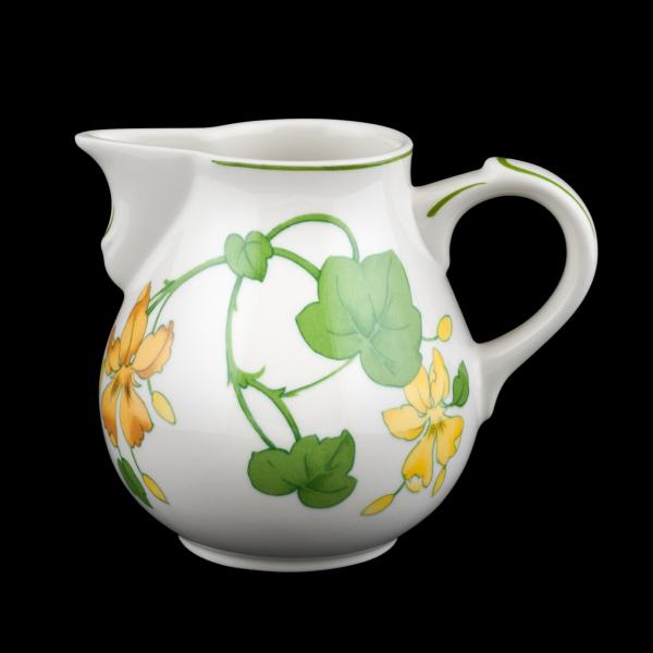 Villeroy /& Boch Kaffeetasse u Unterteller Geranium VITRO gelbe Blüten Porzellan