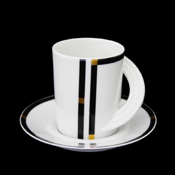 Kaffee-Untertassen Rosenthal I.Wahl schwarz Cupola Nera